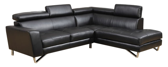 Global Furniture U9836 2-Piece Sectional in Black image