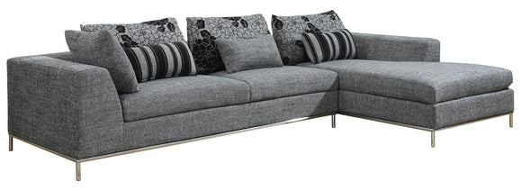 Global Furniture 2-Piece U113 Sectional in Gray image
