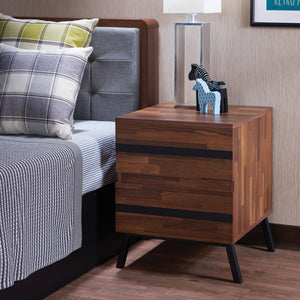 Karine Walnut & Black End Table image
