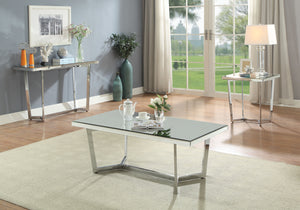 Hastin Mirrored & Chrome Coffee Table image