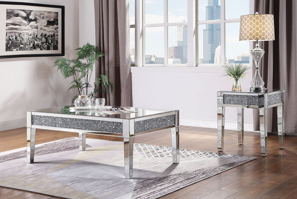 Noralie Mirrored & Faux Diamonds Coffee Table image