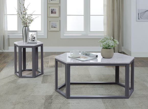 Reon Marble & Gray Coffee Table image