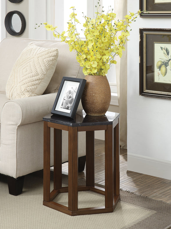 Reon Marble & Walnut End Table (2Pc Pk) image
