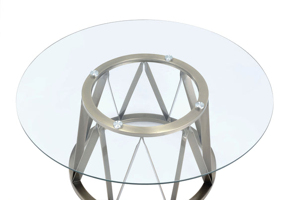 Perjan Antique Brass & Clear Glass Coffee Table image