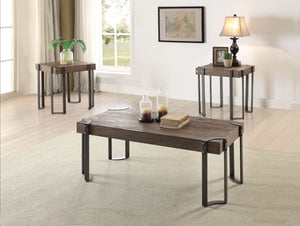 Gilda Weathered Dark Oak & Black Coffee/End Table Set (3Pc Pk) image