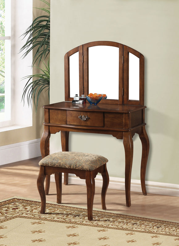 Maren Oak Vanity Desk & Stool image