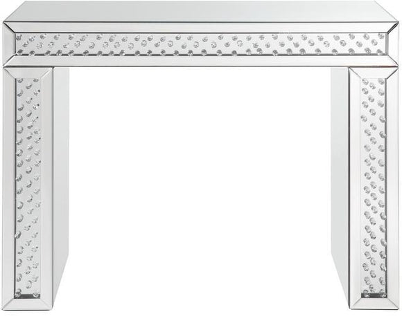 Acme Furniture Nysa Vanity Desk in Mirrored & Faux Crystals 90159 image