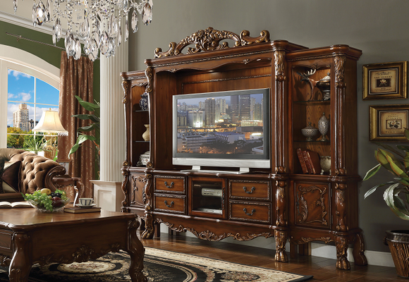 Dresden Cherry Oak Entertainment Center (Side Piers & Bridge) image