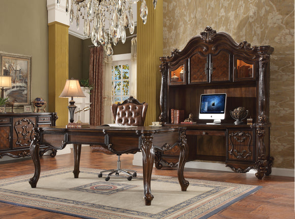 Versailles Cherry Oak Computer Desk & Hutch image