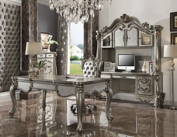 Versailles Silver PU & Antique Platinum Office Chair image