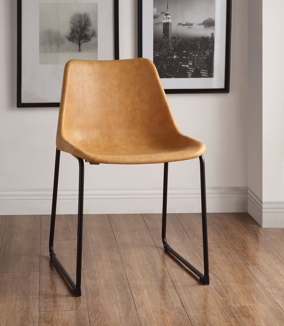 Valgus Vintage Camel & Black Side Chair image