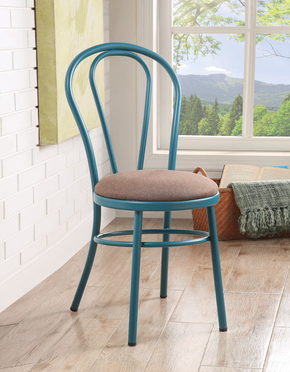 Jakia Fabric & Teal Side Chair image