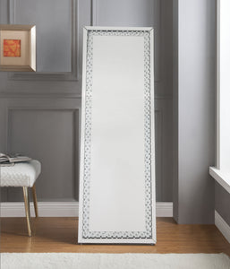 Nysa Mirrored & Faux Crystals Accent Mirror (Floor) image
