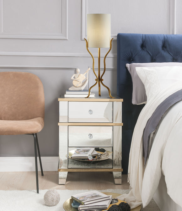 Osma Mirrored & Gold Accent Table image