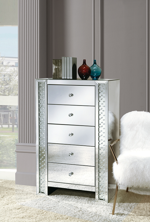 Nysa Mirrored & Faux Crystals Chest image