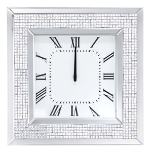 Iama Mirrored & Faux Rhinestones Wall Clock image