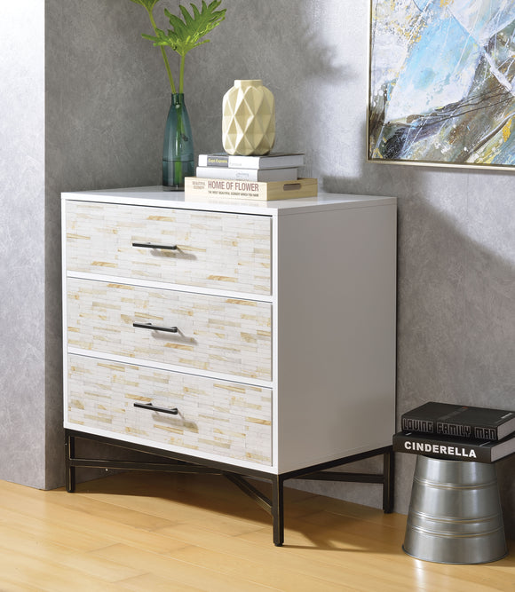 Uma White & Weathered Wood Pattern Console Table image