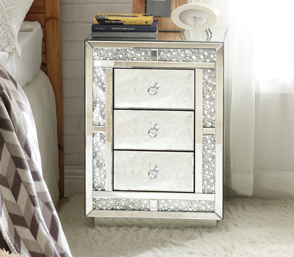 Mallika Mirrored & Faux Crystals Accent Table image