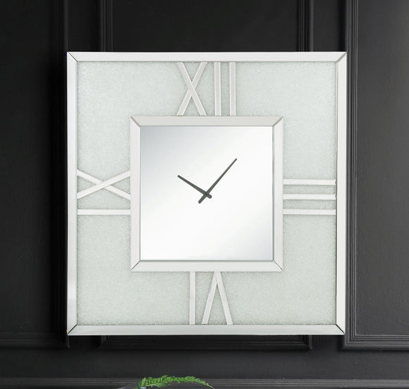 Noralie Mirrored & Faux Diamonds Wall Clock (LED) image