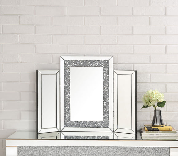 Noralie Mirrored & Faux Diamonds Accent Decor image