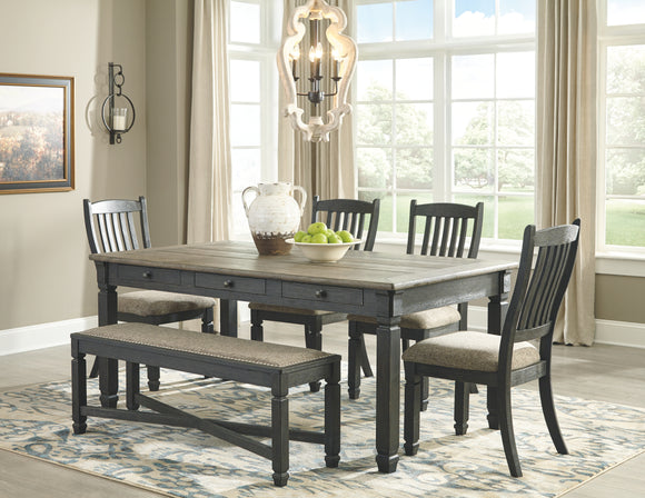 Tyler Creek Signature Design Dining Table 6-Piece Dining Room Package
