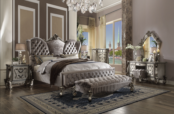 Versailles Velvet & Antique Platinum California King Bed image
