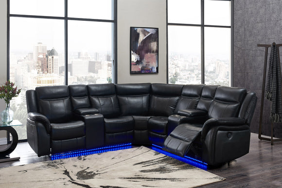 UM02 SECTIONAL BLANCHE BLACK image