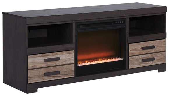 Harlinton 63 TV Stand with Fireplace