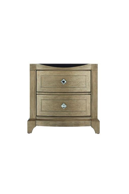 Global Furniture Athena Nightstand in Antique Gold ATHENA-NS image
