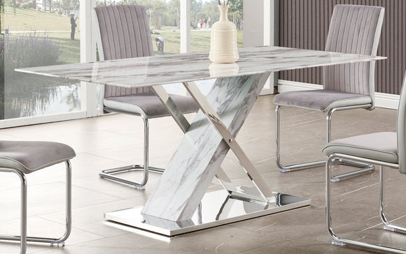 Global Furniture D1274 Dining Table in Marble/Steel D1274DT image