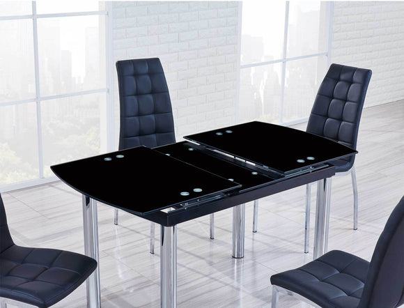 Global Furniture D30 Dining Table in Black/Chrome D30DT image