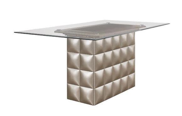 Global Furniture D3975 Dining Table in Metallic Grey D3975DT image