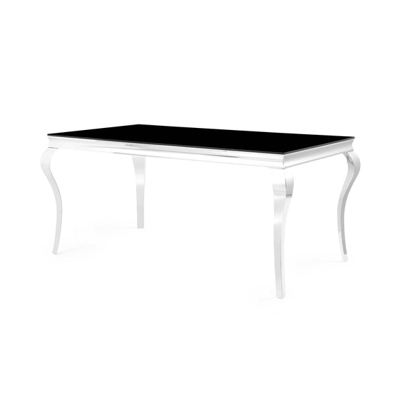 Global Furniture D858 Dining Table in Black/Chrome D858DT image