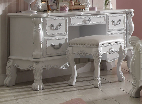 Acme Dresden Vanity Desk in Antique White 30670 image