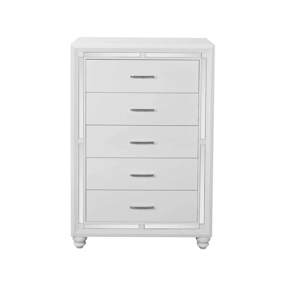 Global Furniture Mackenzie Chest in White MACKENZIE-CH image