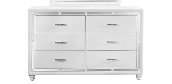 Global Furniture Mackenzie Dresser in White MACKENZIE-D image