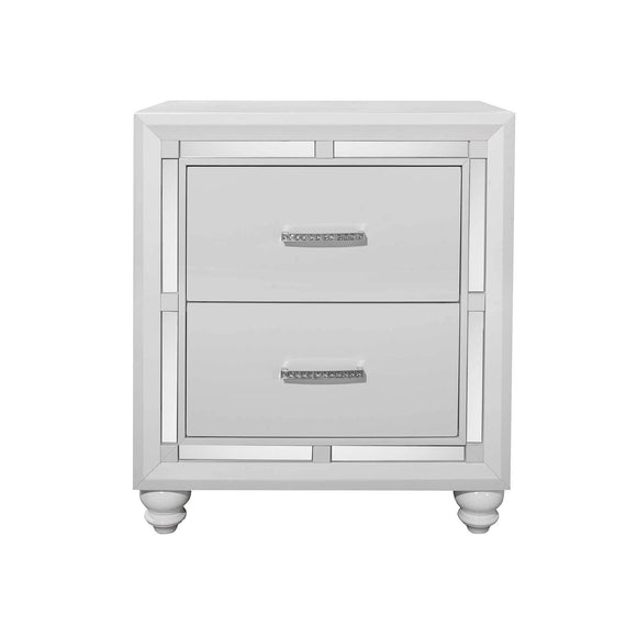 Global Furniture Mackenzie Nightstand in White MACKENZIE-NS image