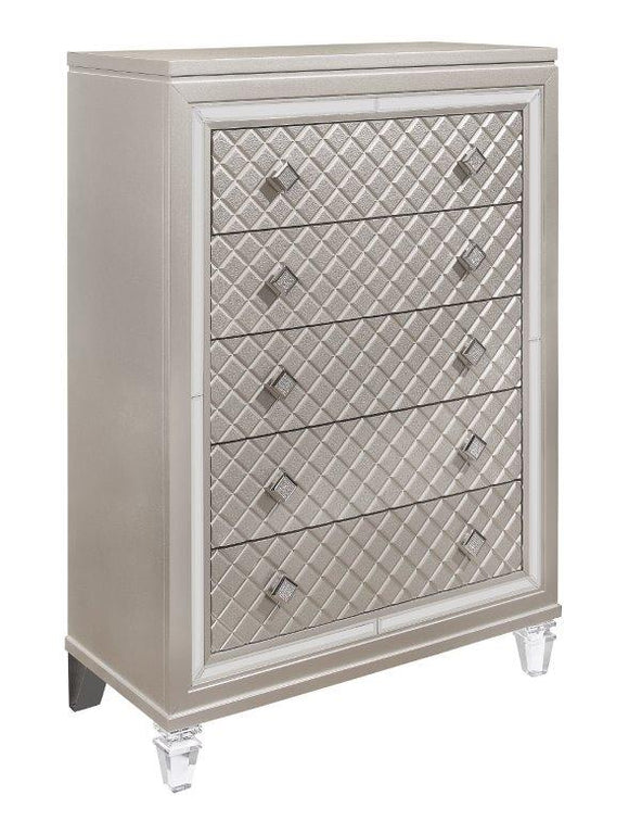 Global Furniture Paris Chest in Platinum Metallic PARIS-CH image