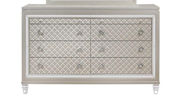 Global Furniture Paris Dresser in Platinum Metallic PARIS-D image