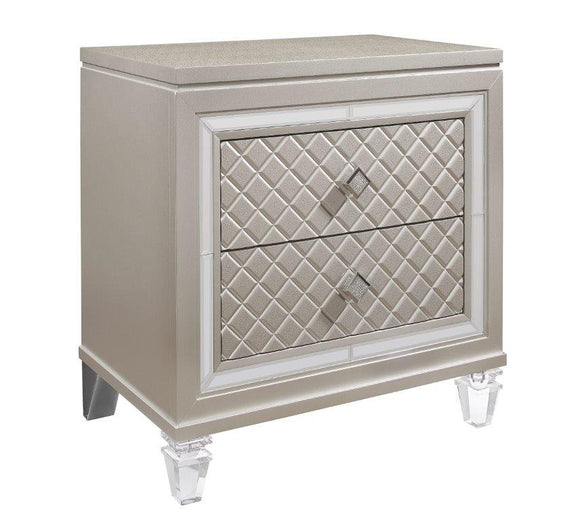Global Furniture Paris Nightstand in Platinum Metallic PARIS-NS image