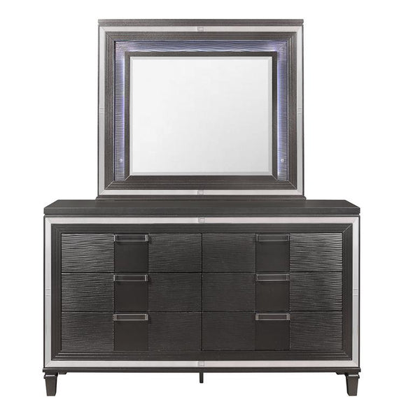 Global Furniture Pisa Mirror in Gray PISA-M W/ LED image