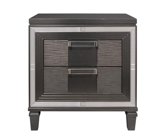 Global Furniture Pisa Nightstand in Gray PISA-NS image
