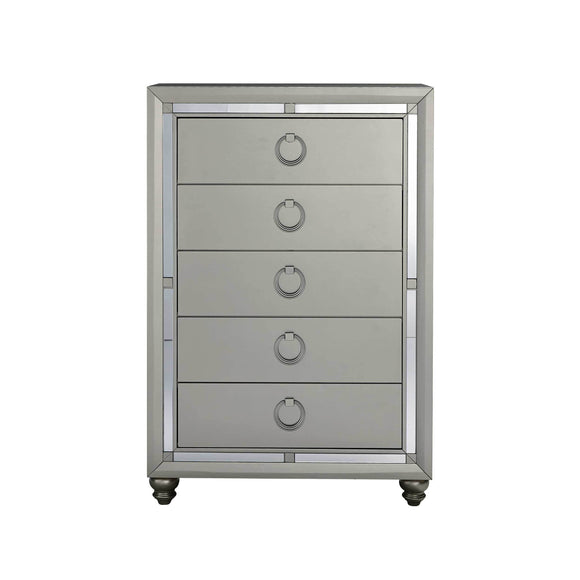 Global Furniture Riley Chest in Silver Champagne RILEY-CH image