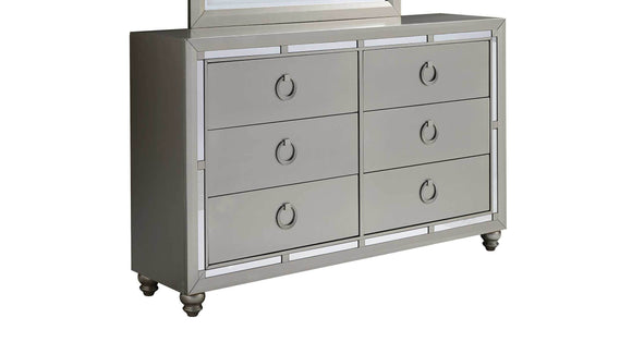 Global Furniture Riley Dresser in Silver Champagne RILEY-D image