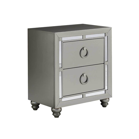 Global Furniture Riley Nightstand in Silver Champagne RILEY-NS image