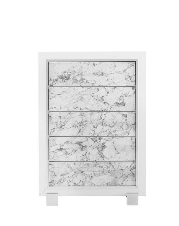 Global Furniture Santorini Chest in White SANTORINI-CH image