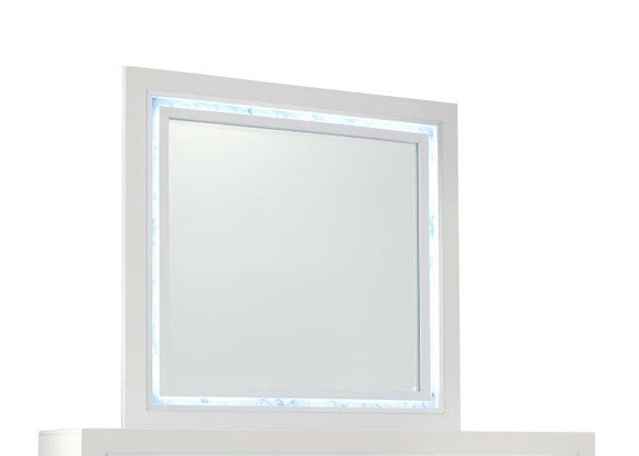 Global Furniture Santorini Mirror in White SANTORINI-M image