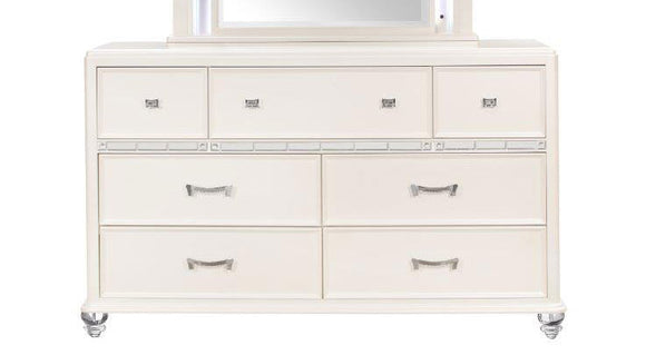 Global Furniture Sofia Dresser in White SOFIA WHITE-D image