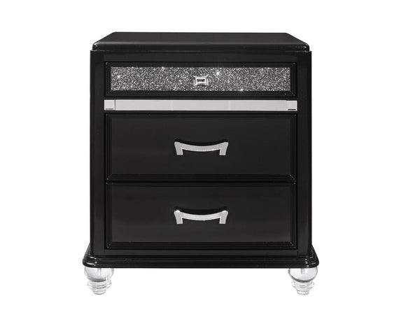 Global Furniture Sonia Nightstand in Black SONIA-NS image