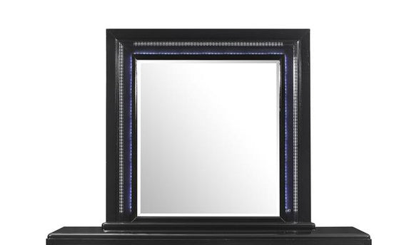 Global Furniture Sonia Mirror in Black SONIA-M W/ LED image